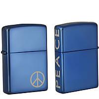 Зажигала Zippo 21055 PEACE синяя 21055, фото 1