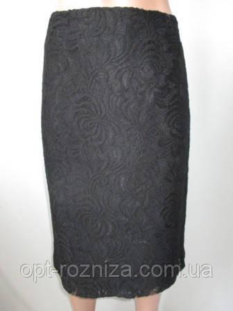 Женская гипюровая юбка-карандаш