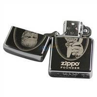 Зажигалка Zippo 24197 Zippo Founder темно-серая 24197, фото 1