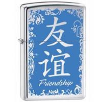 Зажигалка Zippo 28065 CHINESE FRIENDSHIP серая 28065