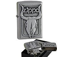 Бензиновая зажигалка Zippo 20286 BULL SKULL (Череп быка)., фото 1
