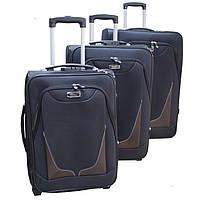 Дорожный стильный чемодан 3-ка  (Black)