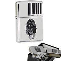 Зажигалка Zippo 20836 I.D.BRUSHED CHROME серая 20836, фото 1