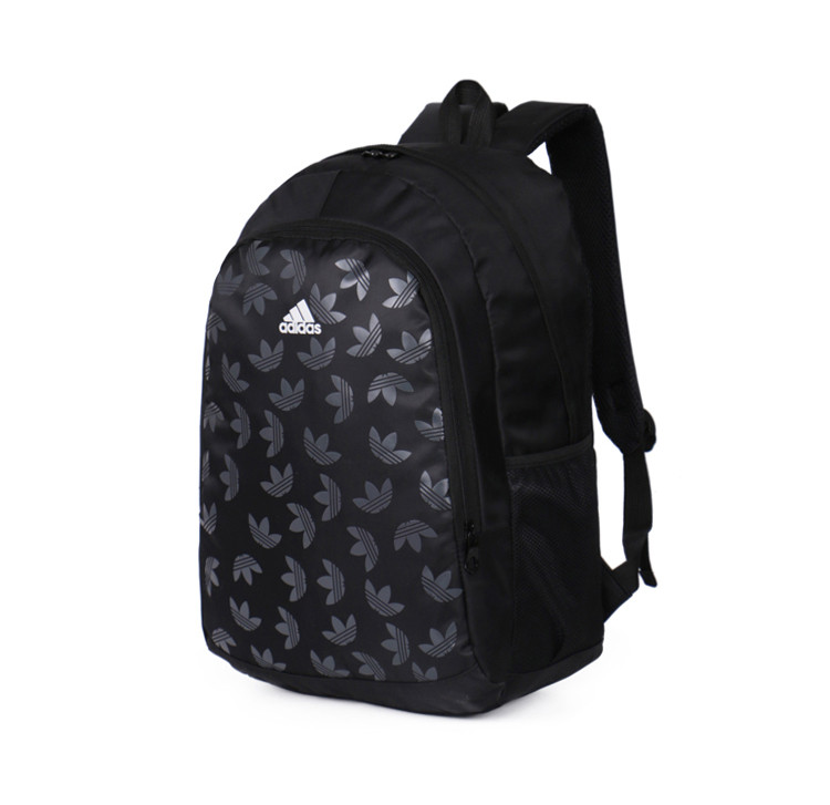 Рюкзак Adidas черный с белым логотипом (реплика)