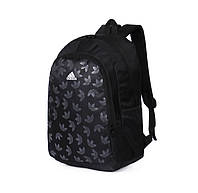 Рюкзак Adidas черный с белым логотипом