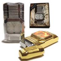 Подарочные зажигалка часы металлическая