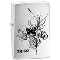 Зажигалка Zippo 24800 Butterfly серая 24800