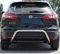 Защита заднего бампера на Nissan Qashqai (c 2014--)