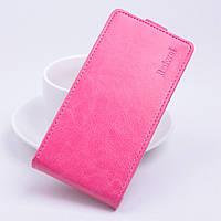 Чехол книжка для Lenovo Vibe P1 вертикальный флип Розовый
