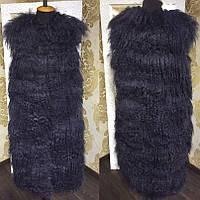 Стильная жилетка из меха ламы