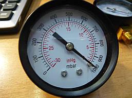 Манометр VALUE 310500106 мановакууомметр диаметр 50 мм . Черн . Подсоеденение с зади