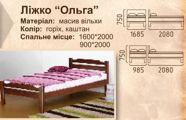 Кровать Ольга характеристики