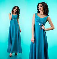 Платье из шифона декоративным лифом 7 цветов