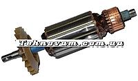 Якорь на болгарку Einhell 125 завод диаметр 37 мм