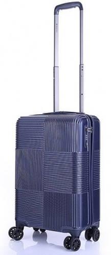 Малый стильный 4-колесный пластиковый чемодан 40 л. MARCH Avenue 3243/04 т. синий