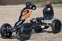 Карт педальный железный детский PROFI 1504-2-7 колеса EVA, оранжево-черный