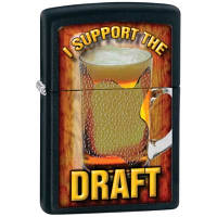 Зажигалка Zippo 28294 SUPPORT THE DRAFT черная 28294