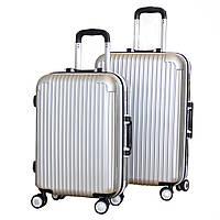 Оригинальный на колесиках пластиковый чемодан двойка SP510223