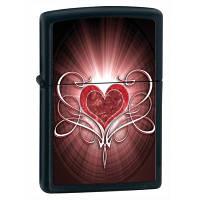 Зажигалка Zippo 28043 HEART черная 28043