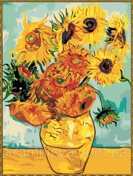 """Роспись картины на холсте по номерам """"Подсолнухи"""", Ван Гог ..."""