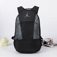 Спортивный рюкзак Jordan черный с серым логотипом