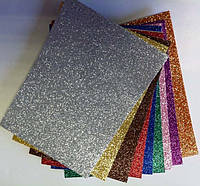 Бумага Цветная  А5 самоклейка глиттер Цена за 1 лист Olli Германия