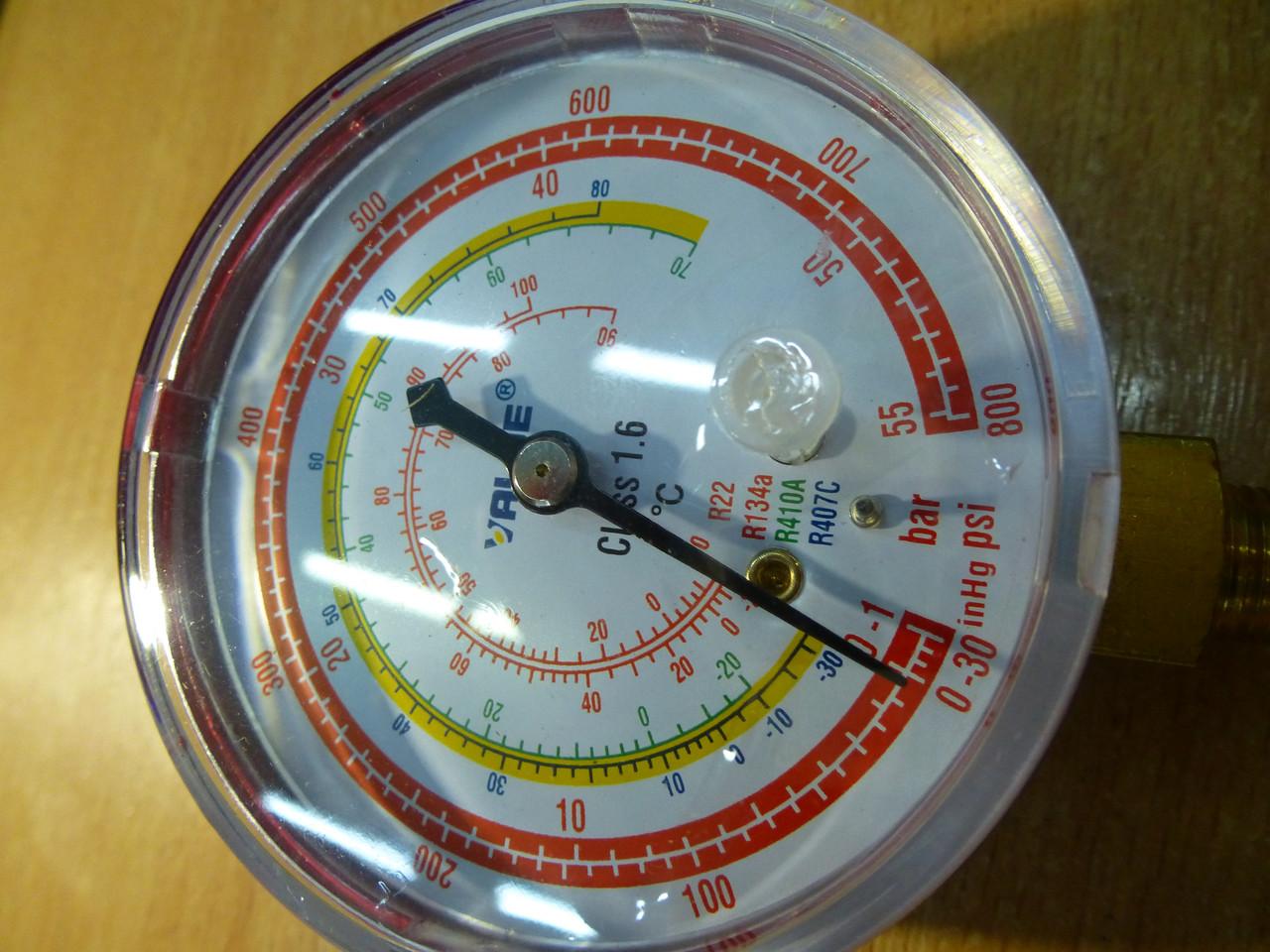 Манометр VALUE CBH высокого  давления . Красный  . R 22,134,410,407 Диаметр 68 мм