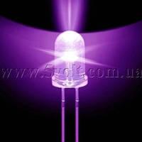 Светодиод ультрафиолетовый направленный, 5мм, 395нм