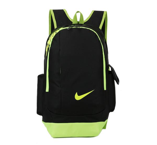 Рюкзак Nike черный с салатовым логотипом (реплика)