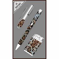 Набор шариковая ручка, ножик, зажигалка форсунка. ZN195514