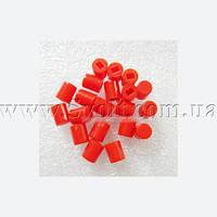 Колпачек для кнопки с фиксацией красный 6мм