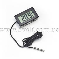 Панельный термометр с внешним датчиком, фото 1