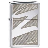Бензиновая зажигалка Zippo 24461 WINDSWEPT (Логотип Zippo на ветру).