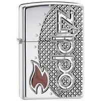Зажигалка Zippo 24801 (шт.) Zippo Emblem Armor (Эмблма Zippo, армированная)