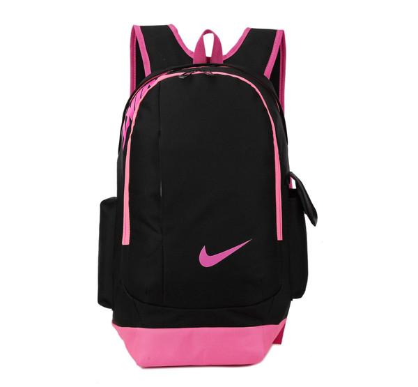 Рюкзак Nike черный с розовым логотипом (реплика)