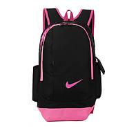 Рюкзак Nike черный с розовым логотипом