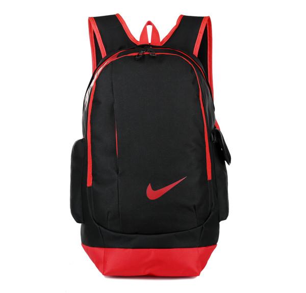 Рюкзак Nike черный с красным логотипом (реплика)