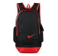Рюкзак Nike черный с красным логотипом