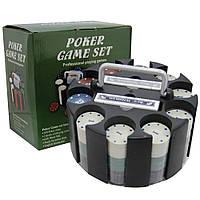 Покерный набор на 300 фишек и карты, на подарок. PN62011, фото 1