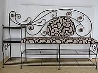 Банкетка кованая с полками (арт. 05-150-01), фото 1