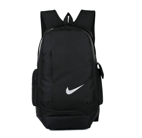 Рюкзак Nike черный с белым логотипом (реплика)