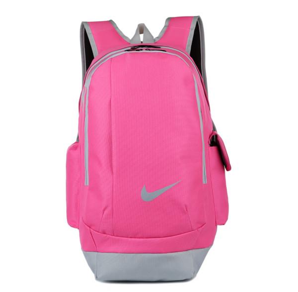 Спортивный рюкзак Nike розовый с серым логотипом (реплика)