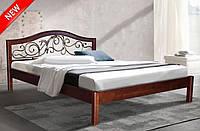Кровать двуспальная Илона массив ольха