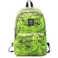 Городской рюкзак Adidas салатовый (реплика)