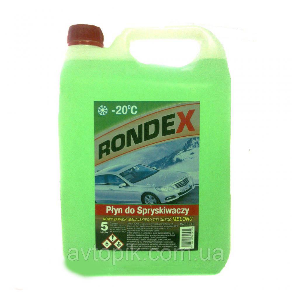 Жидкость для омывания стекол зимняя -20° Rondex 5л (зеленый) V-30540