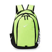 Рюкзак Nike салатовый с белым логотипом