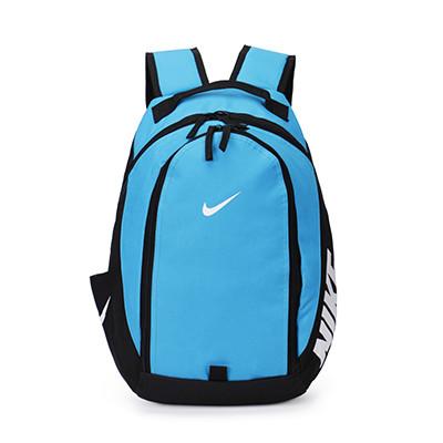 Городской рюкзак Nike голубой с белым логотипом (реплика) - Интернет-магазин оригинальных кепок, рюкзаков и аксессуаров в Львове