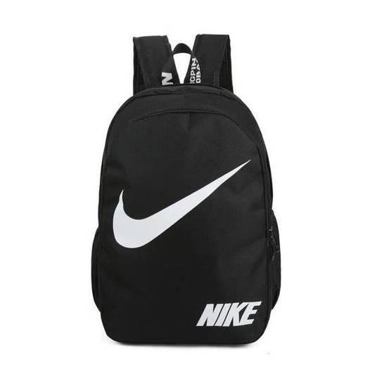 Городской рюкзак Nike черный с белым логотипом (реплика)