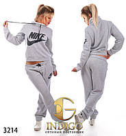"""Спортивный костюм женский теплый больших размеров """"Nike воротник"""""""