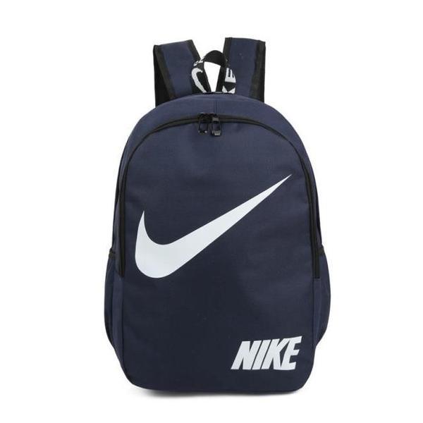 Городской рюкзак Nike темно-синий с белым логотипом (реплика)